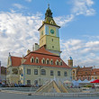 Main square in Brasov — Stock Photo