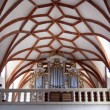 Interior of gothic church in Prejmer Transylvania - Stock Photo
