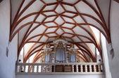 Interior of gothic church in Prejmer Transylvania — Stock Photo