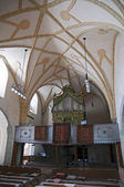 Interior of gothic church in Harman Transylvania — Stock Photo