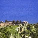 Taormina greek amphitheater in Sicily Italy — Stock Photo