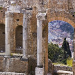 taormina greek amphitheater in sicily italy — Stock Photo #18391375