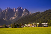 Village in Austrian Alps — Stock Photo