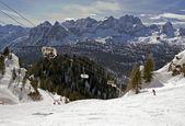 Ski in Dolomites, Italy — Stock Photo