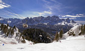 Ski slope in Dolomites, Italy — Stock Photo