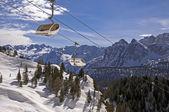 Ski slope in Dolomites, Italy — Foto Stock