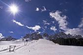 Winter in Dolomites Mountain — Stock Photo