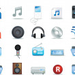 Detailed music icons — Stock Photo #2246856