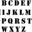 Stencil alphabet letters sprayed in black grafitti style — Стоковая фотография