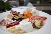 Italian anti pasti starter selection — Stock Photo