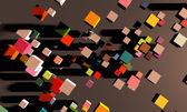 Abstrakt kvadratiska kub rörelse bakgrunden — Stockfoto