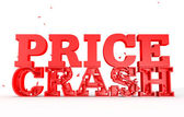 3d render of the word price crash for sales — Stock Photo