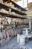 Old pots in outside collection at pompei, pompeii, italy — Stock Photo