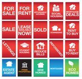 House or property icons or symbols and signs — Stock Photo