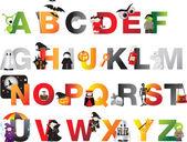 Halloween alphabet — Stock Photo