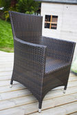 Rattan woven garden furniture — Stock Photo