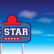 5 star sign in retro vintage roadside advertising style — Stock Photo #46515549
