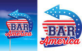 Bar american style signage in vintage roadsie style — Stock Photo