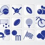 Isometric flat sports ball icon set on white background — Stock Photo #47321503