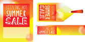SIZZLING SALE label, banner and poster — Stock Photo