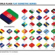 Flags of the world, a-c,  3d isometric flat icon design — Stock Photo #47503881