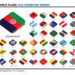 Flags of the world, a-c, 3d isometric flat icon design — Stock Photo