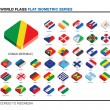 Flags of the world, c-i, 3d isometric flat icon design — Stock Photo #47503941