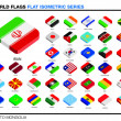 Flags of the world, i-p,  3d isometric flat icon design — Stock Photo #47504049