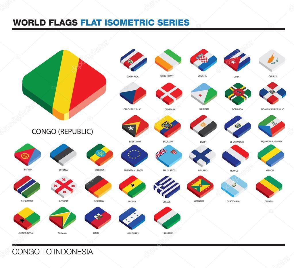 世界, c i, 三维等距平面图标设计的标志