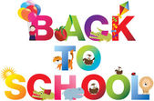 Back to school word in childrens alphabet typeface — Stock Photo