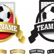 Badge, symbol or icon on white for soccer or football — Stock Photo #48219307