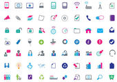 Modern set of large business flat icons — Stock Photo