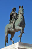 Statue of Louis XIV in Lyon city — Stock Photo