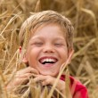Royalty-Free Stock Photo: Children in a wheat field