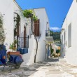 Typical small street in Greece - Stock Photo