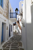 Typical small street in a Greece — Stock Photo