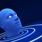 3d blue head — Stock Photo #2695463