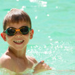 Child swimming in the pool — Stock Photo #6089933