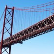 Stock Photo: April 25th Bridge in Lisbon, Portugal