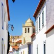 Quiet street in Alvito village, Alentejo, Portugal - Stock Photo