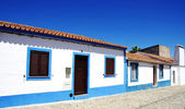 Blue street in alentejo village, Portugal — 图库照片