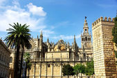 Cathedral of Sevilla in Andalucia, Spain — Foto Stock