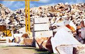 Bloques de mármol en cantera. — Foto de Stock