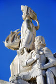 Sculpture on the Discoveries monument in Lisbon, Portugal — Stock Photo