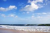 Sea and sky on Manta Beach, Portugal — Stock Photo