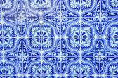 Portugisiska blå kakel närbild — Stockfoto