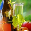 Champagne glass and fruits — Stock Photo #26282529