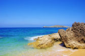 岩石、 pessegueiro 海滩大海。 — 图库照片