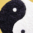 Yin yang symbol in paper — Stock Photo
