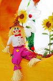 Garden fantezi renkli korkuluk — Stok fotoğraf